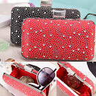 Women Fashion Evening Handbag Diamond Long Clutch Tote Makeup Bag Messenger Bag