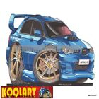 Koolart Cartoon Subaru Impreza WRX STi (Hawkeye) Blue - Mens Gifts (2096)