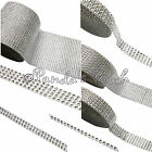Faux Diamante Silver Diamond Effect Ribbon Trim - Choose Width and Length