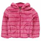 Gelert Kids Yukon Soft Fleece Jacket Infant Girls Striped Hooded Full Zip Top