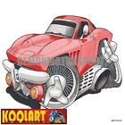 Koolart Cartoon Corvette C2 Vette Sting Ray Red - Mens Gifts (3254)