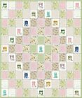 TEA FROM AROUND THE WORLD~QUILT KIT~TEACUPS ROSES~PINK~GREEN~CREAM~FABRIC~QK#54