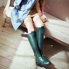 Hot Ladies Strappy British Knight Side Zipper Cuban Heel Wing Tips Preppy Shoes