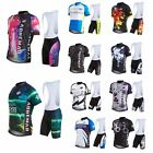 Men's Cycling Suits Bicycle Outdoor Rock Racing Costume Jersey+Bib Short Hotsale