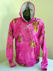 Realtree Xtra Pink Camo Youth / Girls Polyester Performance Pocket Hoodie New!
