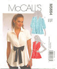 McCalls M5664 Misses Shirt Sewing Pattern ~ Size 6 8 10 12