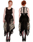 Eclipse Chiffon Dress Steampunk Style Owls Wolves Crows ~ Hell Bunny