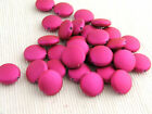 40 x Rubberized Satin Acrylic flat disc beads 14mm for crafts & jewellery