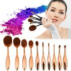 New 10Pcs Toothbrush Elite Oval Tooth Design Makeup Brush Set For Applying Tyt