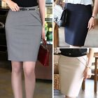 Womens Knee Length Bodycon Slim Fitted High Waist Pencil Short Ladies Tube Skirt