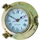 Ships Porthole Style Barometers, Clocks & Tide Clocks in cast brass