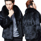 New Men's winter coat faux fur jacket warm outwear parka Outwear in fashion