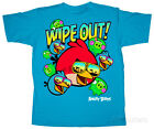angry bird clothes - Youth: Angry Birds - Wipe Out Apparel Kids T-Shirt - Blue