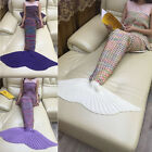 New Adults Handmade Crocheted Mermaid Tail Blanket Cocoon Knit Quilt Rug Costume
