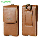 FLOVEME Genuine Leather Waist Bag Pouch Wallet Case for iPhone 6 Samsung S7 edge