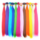 Lot 20'' Cosplay Party Colorful Synthetic Fiber Feather I Tip Hair Extensions