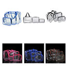 3pcs Clear Cosmetic Toiletry PVC Travel Wash Makeup Bag Holder Pouch OrganizerLA