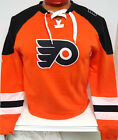 PHILADEPHIA FLYERS MENS LACE SWEATSHIRT JERSEY NEW WITH TAGS PICK SIZE MJESTIC