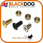 Guitar switch screws and nut in chrome black or gold bulk buy & save 2,10 or 50