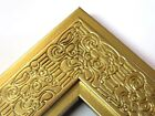 """2.3"""" Mayan Metallicc Gold Solid Wood Canvas Picture Frame-Custom Standard"""