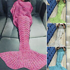 Winter Soft Crocheted Mermaid Tail Blanket Knitting kids&Adult Sofa Sleeping Bag