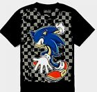 Sonic the Hedgehog t-shirt Size 10-2 M 14-16 L New Childs Black with Checkers