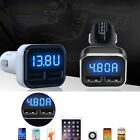 Dual USB Car Charger Adapter LED 4.8A Display Fast Charging For iPhone Samsung