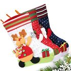 Snowman Santa Claus Reindeer Christmas Stocking Socks Xmas Holiday Gift Bag TXST