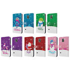 HEAD CASE CHRISTMAS TIDINGS LEATHER BOOK CASE FOR SAMSUNG GALAXY S5 ACTIVE