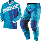 NEW MSR RACING AXXIS CYAN WHITE ROYAL BLUE ADULT RACE GEAR COMBO JERSEY PANTS MX