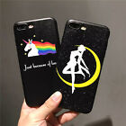 New Cartoon Resistant Protective Black Hard Case Cover For Iphone 6 6s 7 Plus