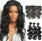 3 Bundles Body Wave Hair Extensions + Full Lace Frontal Closure Free Part Hair