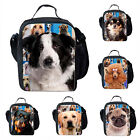 Cute Dogs Pattern Outdoor Cooler Thermal Travel School Picnic Lunch Storage Bag