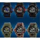 S-shock Fashion Outdoor Sport/Military Men's Dual Display 5 ATM Waterproof Watch