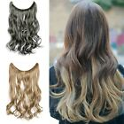 "17"" Long Lady Womens Synthetic Hair Extension Wavy Curly Hairpiece Colorful Hair"