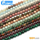 Natural 8mm Assorted Stones Round Jewelry Making Beads Free Shipping Strand 15""