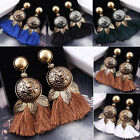 Fashion Women's Long Tassel Lionhead Fringe Boho Earrings Dangle Bohemian