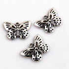 8/20/60Pcs Znic Alloy Butterfly Charms Pendants For DIY Making 17x25mm