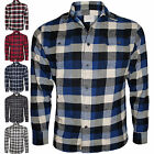 Mens Jachs Branded 9oz Cotton Flannel Check Shirt Work Casual Long Sleeve