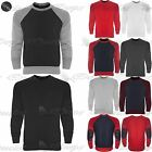 Mens Quilted Designers Fleece Casual Leather Elbow Patches Jumper Sweatshirt Top