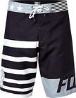 NEW FOX RACING ADULT BLACK RED WHITE AND TRUE BOARDSHORTS SWIM SURF BOARD SHORTS