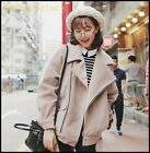Hot Sale Womens Ladies Casual Loose Fit BF Style Lapel Outdoor Coats Jackets New