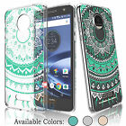 Shockproof Hybrid Bumper and Slim Clear Case Cover for Motorola Moto Z Droid