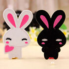 2pcs Embroidered Cloth Iron On Patch Motif Applique Sew Couple Cute Rabbit Aza