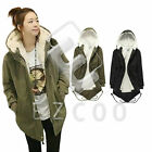 Women Hooded Parka Parker Winter Warm Long Jacket Coat Outwear