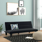 Futon Sofa Bed Furniture Convertible Microfiber Upholstery Couch Sleeper 4 Color