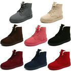 Women Winter Fur Lined Martin Boots Snow Ankle Boots Lace Up Shoe 8 Colors 4.5-8