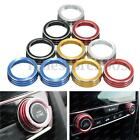 2X A/C Aluminum Control Switch Ignition Ring Knob Cover For Honda Civic 16-17