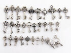 Crafts - Mixed New Crafts Assorted 30 Antique Silver Key Charms Pendants Findings Lots