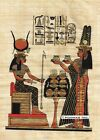"Egyptian Papyrus Painting -  Queen Nefertary offers 8X12"" + Hand Painted #54"